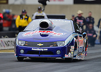 Oct. 8, 2012; Mohnton, PA, USA: NHRA pro stock driver Jason Line during the Auto Plus Nationals at Maple Grove Raceway. Mandatory Credit: Mark J. Rebilas-