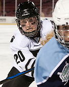 Katie Leininger (Bowdoin - 20) - The Babson College Polar Bears defeated the Connecticut College Camels 3-0 on Thursday, January 12, 2017, at Fenway Park in Boston, Massachusetts.