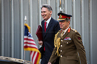 Philip Hammond (Secretary of State for Defence) and General Sir David Richards (Chief of the Defence Staff).<br />