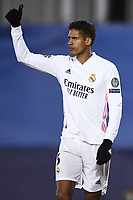 16th March 2021; Madrid, Spain; during the Champions League match, round of 16, between Real Madrid and Atalanta;  Raphael Varane