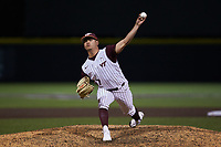 Virginia Tech Hokies relief pitcher Jonah Hurney (47) in action against the Georgia Tech Yellow Jackets at English Field on April 16, 2021 in Blacksburg, Virginia. (Brian Westerholt/Four Seam Images)
