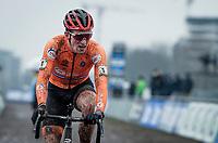 defending champ Ryan Kamp (NED/Pauwels Sauzen-Bingoal) finishing 2nd<br /> <br /> UCI 2021 Cyclocross World Championships - Ostend, Belgium<br /> <br /> U23 Men's Race<br /> <br /> ©kramon