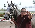 January 09, 2016: Scenes from Gulfstream Park. #7 Jay Gatsby (KY) with jockey Paco Lopez on board wins the 6th race of the day at Gulfstream Park in Hallandale Beach, FL.  Liz Lamont/ESW/CSM