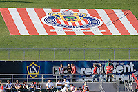 Chivas USA logo on upper endline grass deck at the HDC during a Chivas USA home match. MLS match. FC Dallas defeated Chivas USA 2-0 at Home Depot Center Stadium, in Carson, Calif., on Sunday, April 20, 2008.