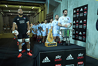The players prepare to run out for the rugby match between North and South at Sky Stadium in Wellington, New Zealand on Saturday, 5 September 2020. Photo: Dave Lintott / lintottphoto.co.nz