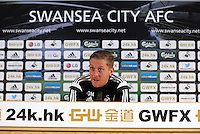 Pictured: Thursday 27 November 2014<br /> Re: Swansea City FC press conference at the Liberty Stadium, south Wales, UK