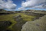 Immenses etendues de lave issues de l eruption du Laki (818 m) situe dans l interieur des Hautes Terres Islande..