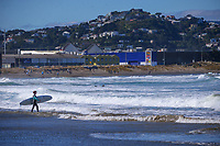 Lyall Bay at 1pm, Wednesday as New Zealand (outside of Auckland) switches down to Level 3 lockdown for the COVID-19 pandemic in Wellington, New Zealand on Wednesday, 1 September 2021.
