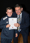 St Johnstone FC Academy Awards Night...06.04.15  Perth Concert Hall<br /> Chairman Steve Brown presents a certificate to Brodie Smith<br /> Picture by Graeme Hart.<br /> Copyright Perthshire Picture Agency<br /> Tel: 01738 623350  Mobile: 07990 594431