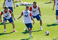 Spain's Saul Niguez, Iago Aspas and Vitolo during training session. June 5,2017.(ALTERPHOTOS/Acero)