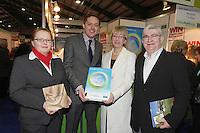 28/1/11 Minister Mary Hanafin at the Mill Times Hotel Westport stand at the launch of the Holiday World Show at the RDS, Dublin, which runs from Friday 28th untill Sunday 30th January. Picture: Arthur Carron/Collins
