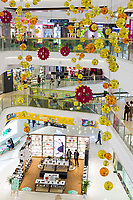 Yangzhou, Jiangsu, China.  Wanda Shopping Mall, Interior Scenes.