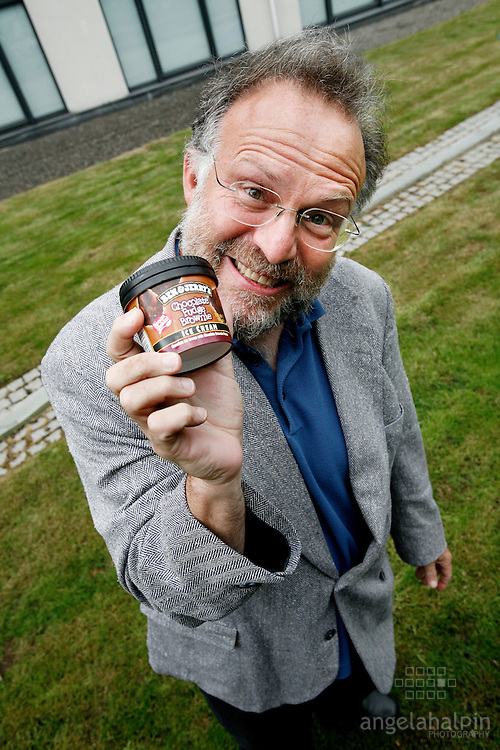 Jerry Greenfield a co-founder of Ben & Jerry's visits Dublin (Sept 2007) to launch the search for the 2008 Irish Ben & Jerry's Climate Change Ambassador.