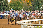 October 30, 2015 : Stopchargingmaria, ridden by Javier Castellano, outdoes Stellar Wind, ridden by Victor Espinoza, to win the Breeders' Cup Distaff at Keeneland Race Course in Lexington, Kentucky.   Eric Patternson/ESW/CSM