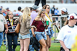 NASCAR fans enjoy drinks before the NASCAR AAA Texas 500 race at Texas Motor Speedway in Fort Worth,Texas.