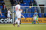 St Johnstone v Ross County… McDiarmid Park..     SPFL<br />Christopher Routis heads in county's second goal<br />Picture by Graeme Hart.<br />Copyright Perthshire Picture Agency<br />Tel: 01738 623350  Mobile: 07990 594431