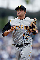 Freddy Sanchez of the Pittsburgh Pirates during a game against the Los Angeles Dodgers in a 2007 MLB season game at Dodger Stadium in Los Angeles, California. (Larry Goren/Four Seam Images)