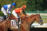 Martin Garcia aboard Coil edges out Preaknes Stakes winner Shackleford  to win  the Haskell Invitational Stakes (Grade I) apart of the Breeders Cup  Classic Win and You're In  at  Monmouth Park Racetrack in Oceanport, NJ  on 7/31/11. (Ryan Lasek / Eclipse Sportwire)