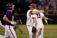 South Carolina eliminates rival Clemson in Game 14 of the NCAA Division One Men's College World Series on June 26th, 2010 at Johnny Rosenblatt Stadium in Omaha, Nebraska.  (Photo by Andrew Woolley / Four Seam Images)