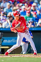 28 February 2019: St. Louis Cardinals top prospect outfielder Tyler O'Neill at bat during a Spring Training game against the New York Mets at Roger Dean Stadium in Jupiter, Florida. The Mets defeated the Cardinals 3-2 in Grapefruit League play. Mandatory Credit: Ed Wolfstein Photo *** RAW (NEF) Image File Available ***