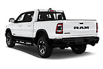 Car pictures of rear three quarter view of 2020 Ram RAM-1500 Rebel 4 Door Pick-up Angular Rear