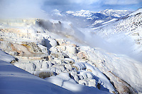 YELLOWSTONE NP, WYOMING/USA<br /> Mammoth Hot Springs Terraces<br /> <br /> Full size: 69,2 MB