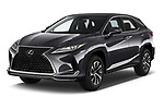 2020 Lexus RX 350 5 Door SUV angular front stock photos of front three quarter view