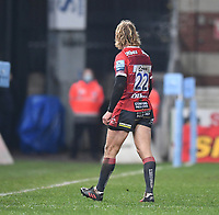 2nd January 2021; Kingsholm Stadium, Gloucester, Gloucestershire, England; English Premiership Rugby, Gloucester versus Sale Sharks; Billy Twelvetrees of Gloucester receives a yellow card forstarting a fight by pushing a waterboy