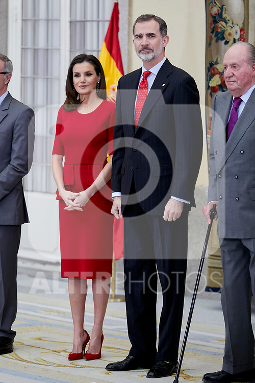 Queen Letizia of Spain and King Felipe VI of Spain attends to National Sports Awards at Royal Palace of el Pardo in Madrid, Spain. January 10, 2019. (ALTERPHOTOS/A. Perez Meca) (ALTERPHOTOS/A. Perez Meca)