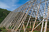 Building frame stands unfinished in the Vinales Valley, Cuba.