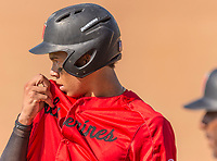 Harvard-Westlake Wolverines Drew Bowser (2) during a High School baseball game on May 14, 2019 in Studio City, California.  (Terry Jack/Four Seam Images)
