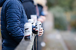 Cans of Carling in plentiful supply. Hucknall Town v Heanor Town, 17th October 2020, at the Watnall Road Ground, East Midlands Counties League. Photo by Paul Thompson.