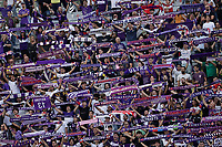 3rd October 2021; Franchi Stadium, Florence, Italy; Serie A football, Fiorentina versus Napoli : fiorentina fans hold up scarves