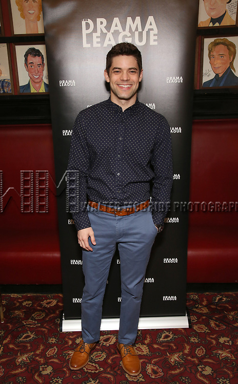 Jeremy Jordan attends the 2019 Drama League Nominees Announcement at Sardi's on April 17, 2019 in New York City.