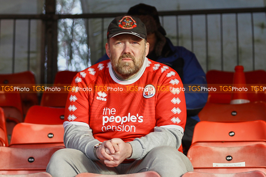 Crawley fan returns to the stands during Crawley Town vs Barrow, Sky Bet EFL League 2 Football at Broadfield Stadium on 12th December 2020