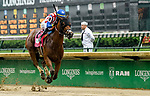LOUISVILLE, KY - MAY 05: American Gal #8, ridden by Jose L. Ortiz wins the Humana Distaff on Kentucky Derby Day at Churchill Downs on May 5, 2018 in Louisville, Kentucky. (Photo by Jessica Morgan/Eclipse Sportswire/Getty Images)