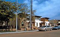 """Studio E: Escondido fancily named """"Emerald Garden Town Homes. 415 W. 11th. 10-unit infill housing, 2001."""