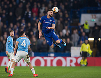 Chelsea's Olivier Giroud during the UEFA Europa League match between Chelsea and Malmo at Stamford Bridge, London, England on 21 February 2019. Photo by Andrew Aleksiejczuk / PRiME Media Images.
