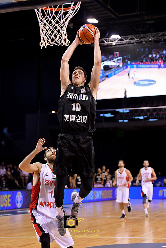 New Zealand Tall Blacks' Tom Abercromble in action during the FIBA World Cup Basketball Qualifier - NZ Tall Blacks v Syria at TSB Bank Arena, Wellington, New Zealand on Sunday 2 2018. <br /> Photo by Masanori Udagawa. <br /> www.photowellington.photoshelter.com