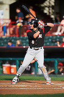 Richmond Flying Squirrels first baseman Ryder Jones (8) during a game against the Erie SeaWolves on May 27, 2016 at Jerry Uht Park in Erie, Pennsylvania.  Richmond defeated Erie 7-6.  (Mike Janes/Four Seam Images)