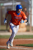 Paulshawn Pasqualotto (19) during the WWBA World Championship at the Roger Dean Complex on October 13, 2019 in Jupiter, Florida.  Paulshawn Pasqualotto attends Palo Verde High School in Las Vegas, NV and is committed to California.  (Mike Janes/Four Seam Images)