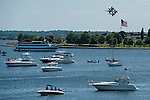 Blue Angels preforms during the Star Spangled Sailabration over Fort McHenry National Monument and Historic Shrine in  Baltimore, MD on 06/16/12. (Ryan Lasek/ Eclipse Sportswire)