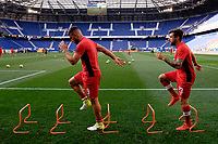 Harrison, NJ - Friday July 07, 2017: Lucas Cavallini, Michael Petrasso during a 2017 CONCACAF Gold Cup Group A match between the men's national teams of French Guiana (GUF) and Canada (CAN) at Red Bull Arena.