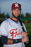 Frisco RoughRiders outfielder Nomar Mazara (12) poses for a photo before a game against the Springfield Cardinals on June 4, 2015 at Hammons Field in Springfield, Missouri.  Frisco defeated Springfield 8-7.  (Mike Janes/Four Seam Images)