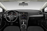 Stock photo of straight dashboard view of a 2019 Volkswagen Golf SportWagen S 5 Door Wagon