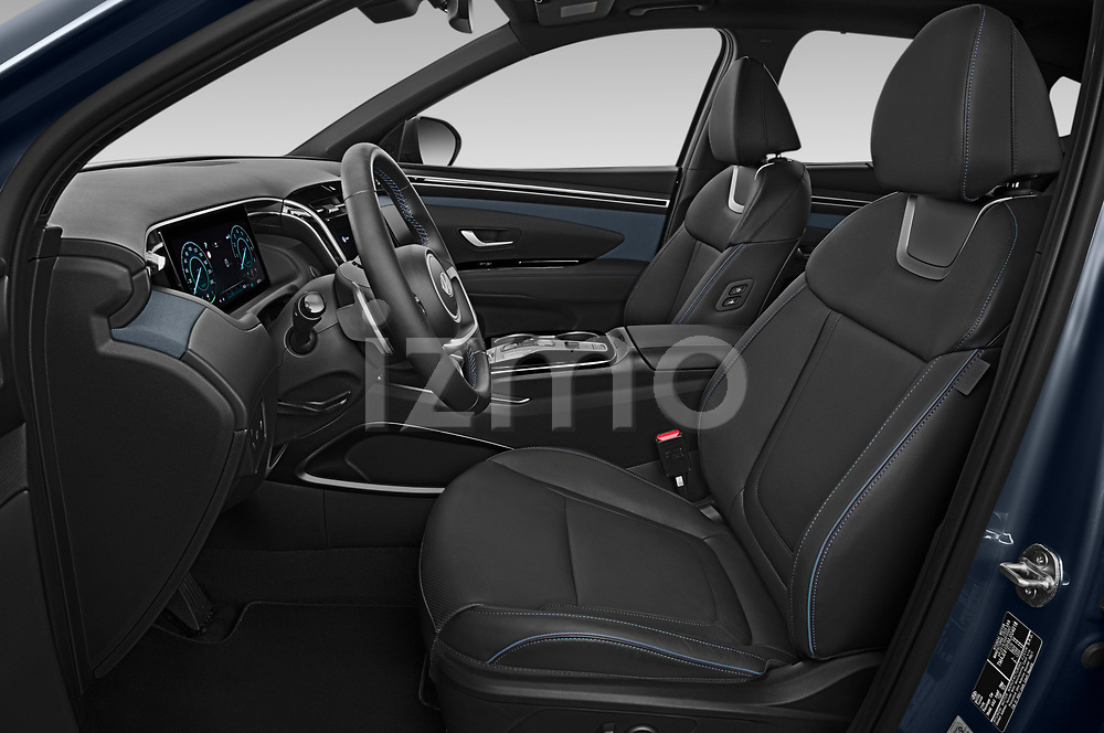 Front seat view of 2021 Hyundai Tucson Shine 5 Door SUV Front Seat  car photos