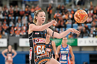 6th June 2021; Ken Rosewall Arena, Sydney, New South Wales, Australia; Australian Suncorp Super Netball, New South Wales, NSW Swifts versus Giants Netball; Sophie Dwyer of the Giants Netball passes the ball