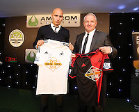 Pictured: Jonjo Shelvey with sponsor Wednesday 20 May 2015<br />