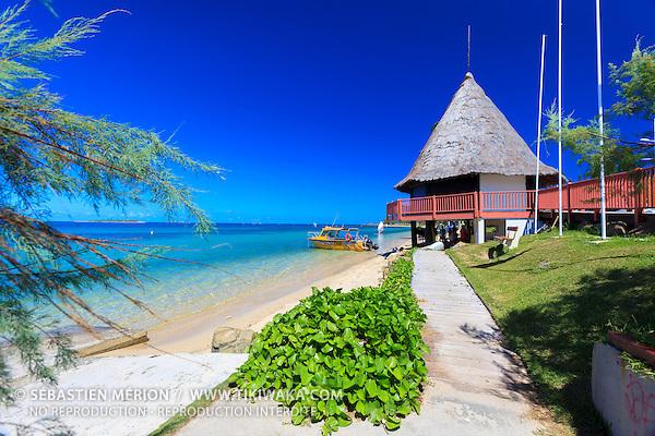 Départ des taxi-boat, plage de l'Anse Vata, Nouméa, Nouvelle-Calédonie