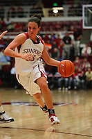 10 January 2008: Stanford Cardinal Jillian Harmon during Stanford's 81-45 win against the Oregon State Beavers at Maples Pavilion in Stanford, CA.